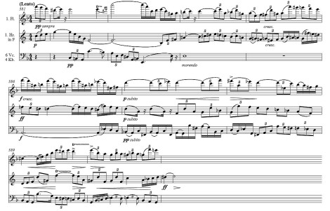 Mahler: Symphony No.9, first movement, bars 381-390
