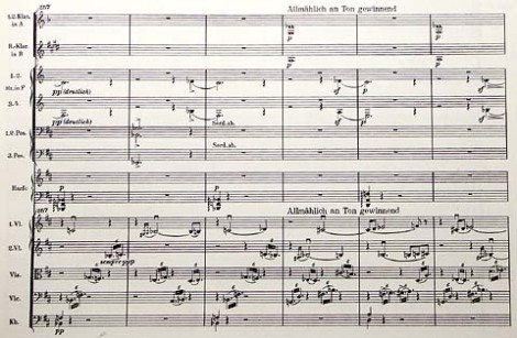 Mahler: Symphony No. 9, first movement, bars 257-262